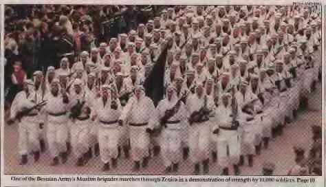 1995 Bosnian muslim  troops one brigade of 10.000